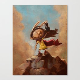 The Rabbit's Unwanted Visitor Canvas Print