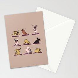 French Bulldog Yoga Stationery Cards
