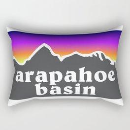 Arapahoe Basin Colorado A Basin Ski Snowboard Resort Keystone Loveland Rectangular Pillow