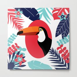 toucan and foliage Metal Print