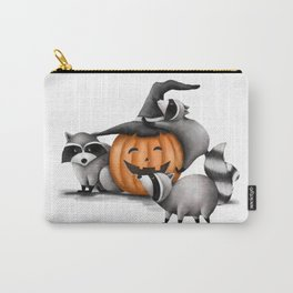 Raccoons and Jack-O-Lanterns Carry-All Pouch
