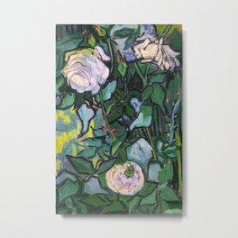 Van Gogh Pink Roses Metal Print