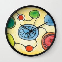 Watercolor Orbs N Lines 13 Wall Clock