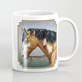 Native American Buckskin Pinto War Horse Coffee Mug