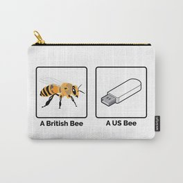 British vs US Bee Carry-All Pouch