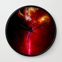 universe Wall Clocks featuring Universe by Fine2art