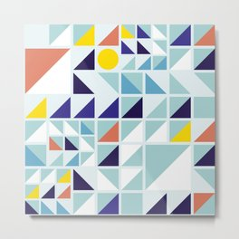 Sunny Geometric Regatta #pattern Metal Print