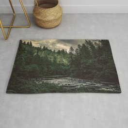 Pacific Northwest River - Nature Photography Rug