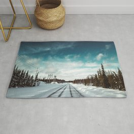 driving in lapland Rug