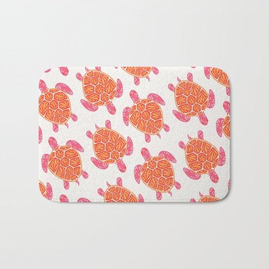 Sea Turtle – Melon Palette Bath Mat