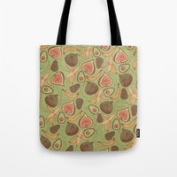 fig Tote Bags featuring Fig by Meredith Miotke