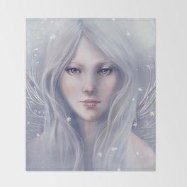 Snow Sprite Throw Blanket