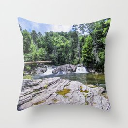 Lower Fall View Throw Pillow