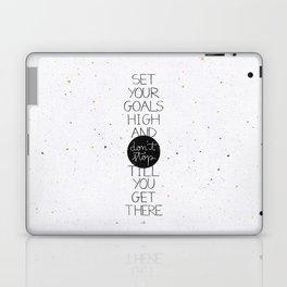 Set your goals high Laptop & iPad Skin