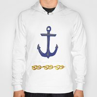 nautical Hoodies featuring Nautical by DesignSam