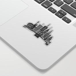 Linocut New York Sticker