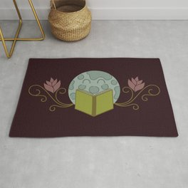 Flowers and the Moon Rug