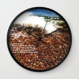 Baptism 2 by Saribelle Rodriguez Wall Clock