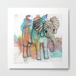 Juneau Elephant Explorer Metal Print