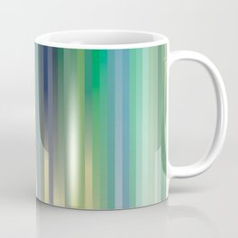 background, blue, green and yellow strips Coffee Mug