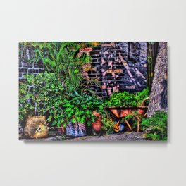 Barrel Garden Metal Print