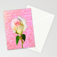 Rose Unfolding Stationery Cards