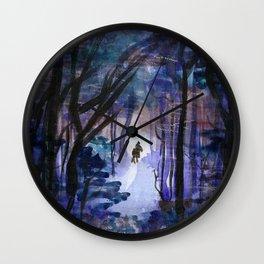 Rider in the Night Wall Clock