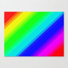 Brightly Coloured Stripes Canvas Print