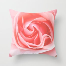 Velvet pink rose - Roses Flowers Flower Throw Pillow
