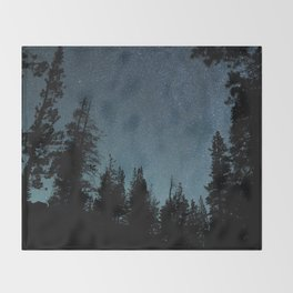 Stars and Trees Throw Blanket