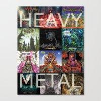 heavy metal Canvas Prints featuring Heavy Metal by Michael Keene