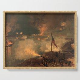 Civil War Battle of Port Hudson by J.O. Davidson (1887) Serving Tray