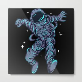Astronaut dancing awesome cosmonaut gifts Metal Print