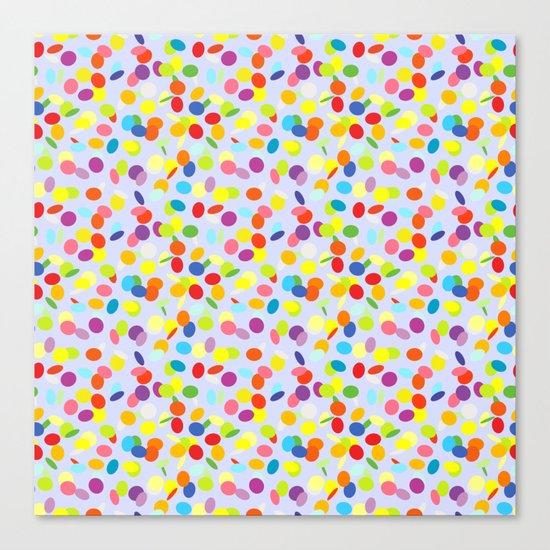 Festive confetti pattern Canvas Print