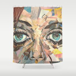 Shattered Stare Shower Curtain