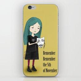 5th of November iPhone Skin