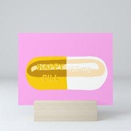 Happy Pill Pink Mini Art Print