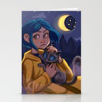 coraline Stationery Cards featuring Coraline by Corelle_Vairel