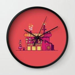 Cyberpunk Fruit Merchant Wall Clock