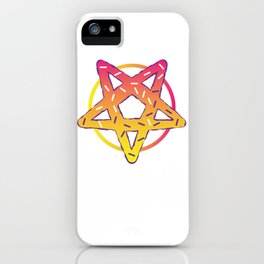 Gothic Donut pentagram Satan funny gift iPhone Case