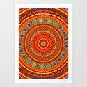 Mandala Aztec Pattern by maximilian