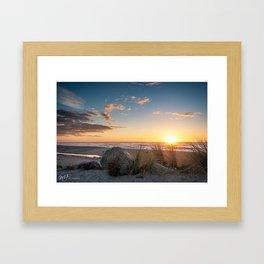 Hokitika Beach Framed Art Print
