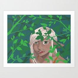 A Leafy Hello Art Print