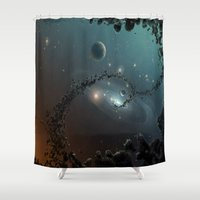 big bang Shower Curtains featuring Big Bang by SwanniePhotoArt