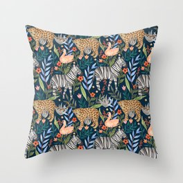 Moody Jungle Throw Pillow