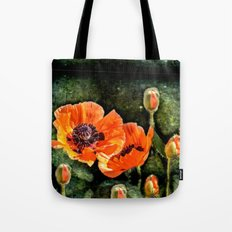 Oriental Poppies family Tote Bag