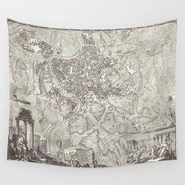 La pianta grande di Roma (The Large Plan of Rome) also known as The Nolli Map by Pietro Campana Carl Wall Tapestry