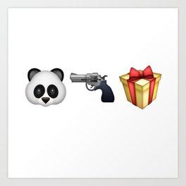 A Panda Next to a Gun Next to a Wrapped Gift (Shosanna, HBO Girls) Art Print