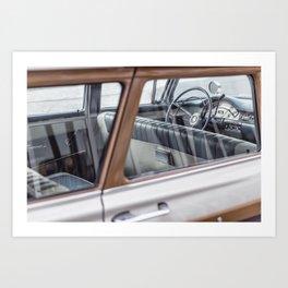 Vintage car brown 4 Art Print