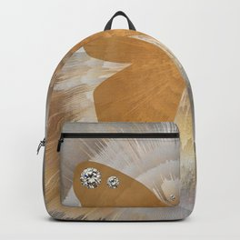 Golden Butterfly with Diamonds Backpack